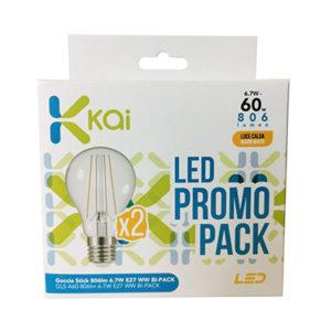 LAMPADA GOCCIA LED E27 K27 W6.7=60W PZ.2