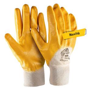 guanto giallo polsino areato