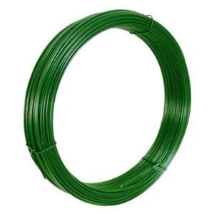 Filo di ferro plasticato colore verde per tensione. Lunghezza 100MT. Spessore 2.8MM.
